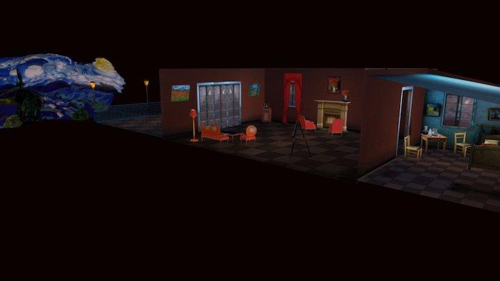 Painter Night 3D Model