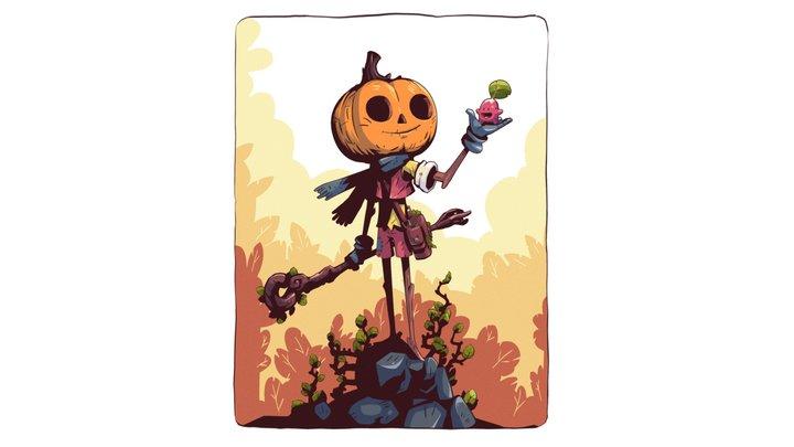 Pumpkin Mage 3D Model