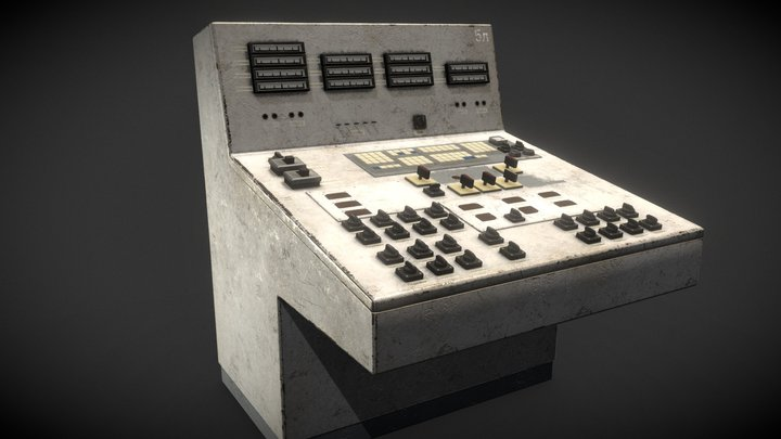 Old Factory Console 3D Model