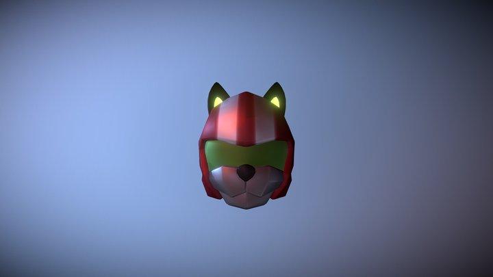 K-10 Racing helmet 3D Model
