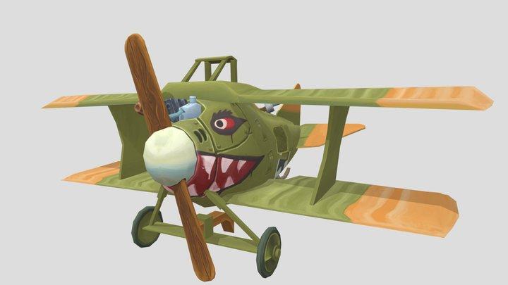 CII Stylized WWI plane 3D Model