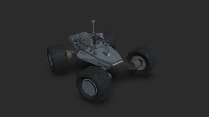 Stealth recon drone 3D Model