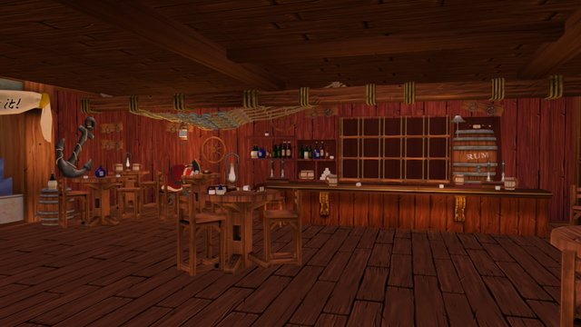 The Salty Cod Bar (Crazy Pirate Slots 2) 3D Model