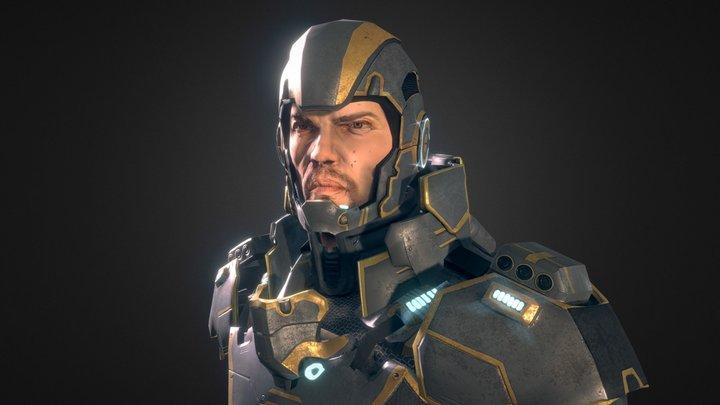 Sci-Fi Hero 3D Model