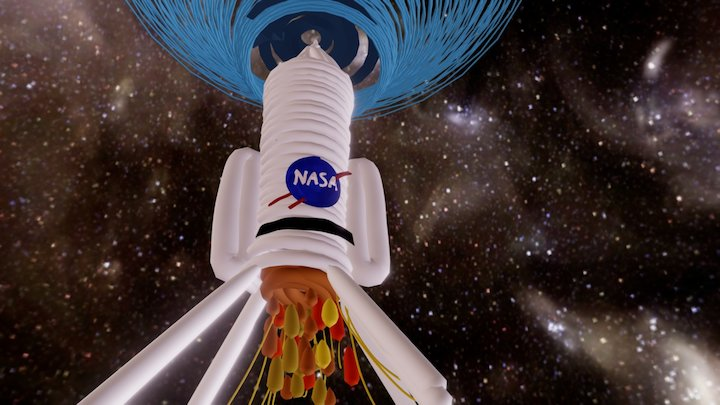 Exploring Space - NASA Rocket 3D Model