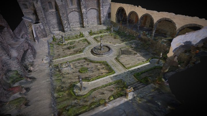 Patio de la Iglesia de Mixquic 3D Model