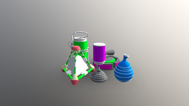 Splatoon Bombs 3D Model