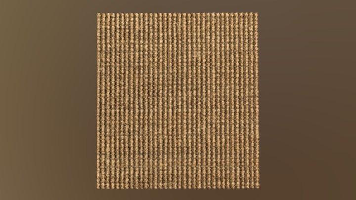 Hard brown carpet Sisal 3D Model