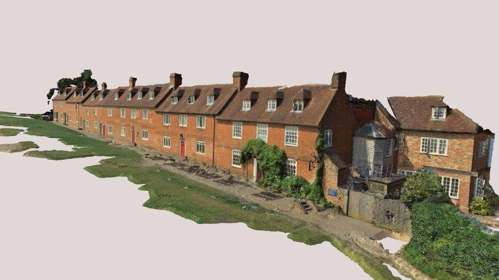 North Western side of Buckler's Hard Village 3D Model