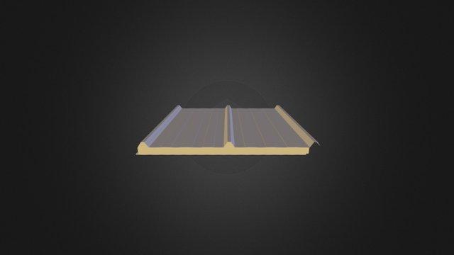 Üç Hadveli Çatı Paneli 3D Model