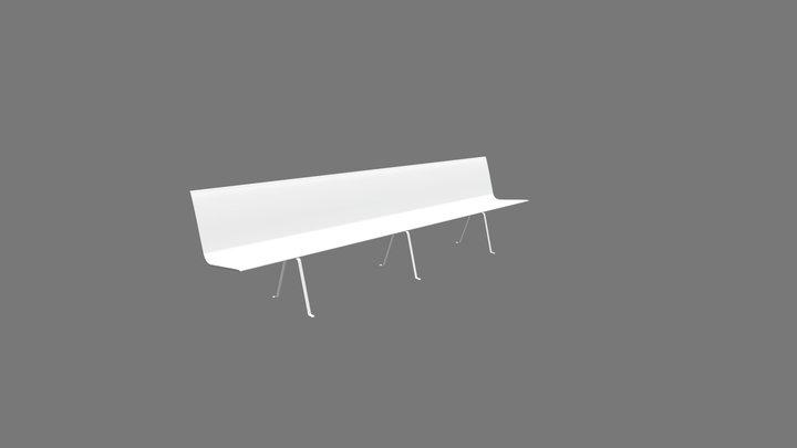 Panca A Terra 3D Model