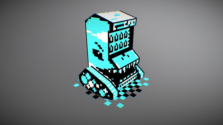 Mobile Monster Vending Machine 3D Model