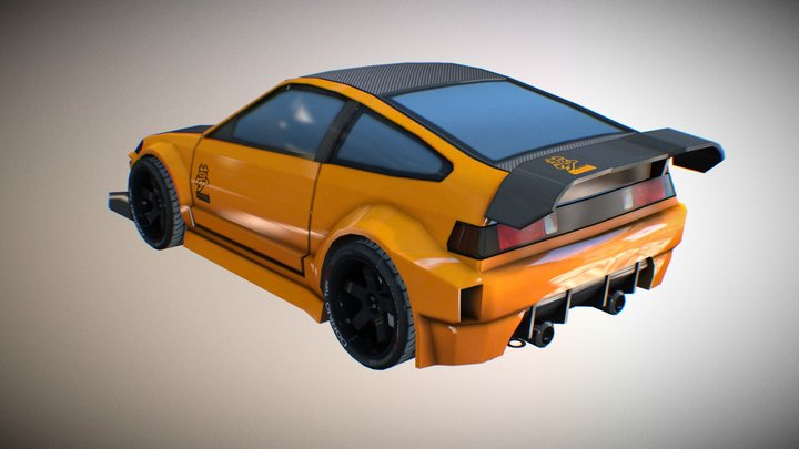 Honda CRX second gen [custom] 3D Model