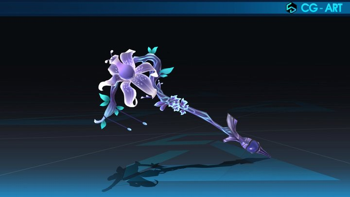 Flower Weapon 3D Model 3D Model