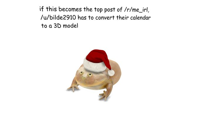 December 16th frog 3D Model