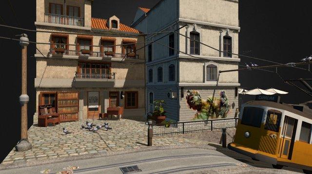 CityScene_Lisbon 3D Model