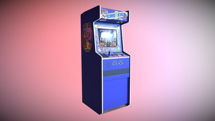 Donkey Kong Arcade Cabinet 3D Model