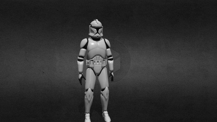 Clone Trooper Phase I 3D Model