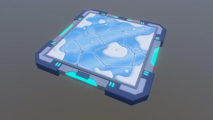 Frozen Floor Game Asset 3D Model
