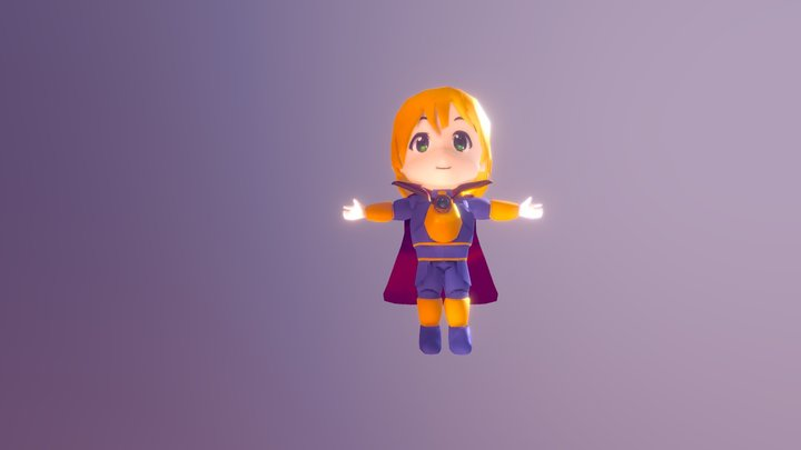 Dnd-Chibby-Aasimar 3D Model