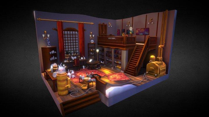 Steampunk Alchemist 3D Model