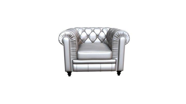 Aristocrat Arm Chair Silver - 900102 3D Model