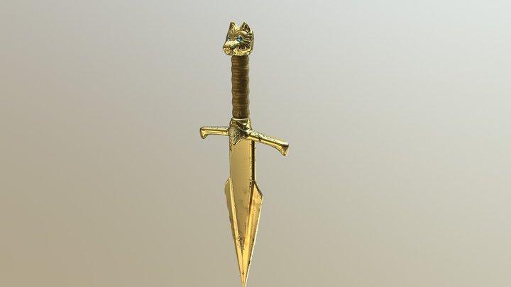 Golden Dagger 3D Model