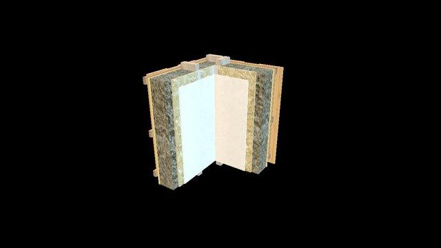 Egger Testdetail 4.1 Aussenecke Aussenwand 3D Model