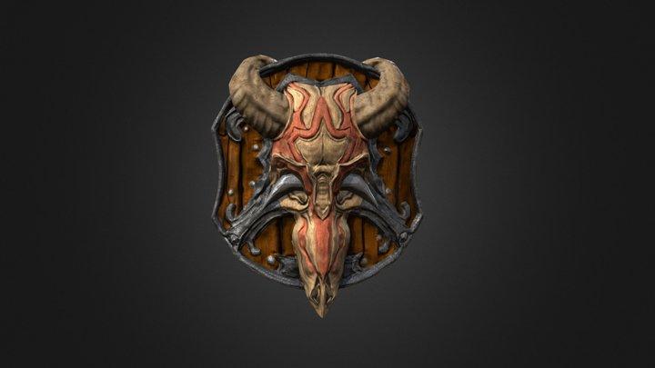 Dusk Bone Shield 3D Model