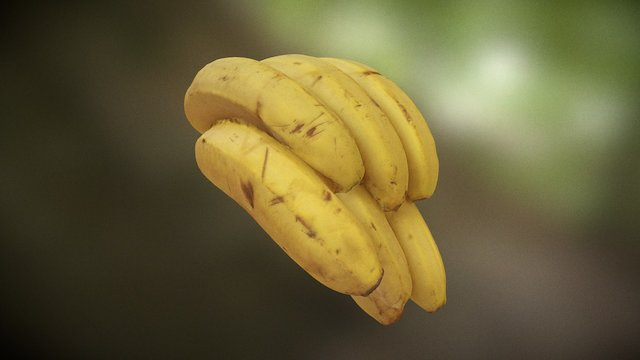 bananas with a surprise 3D Model