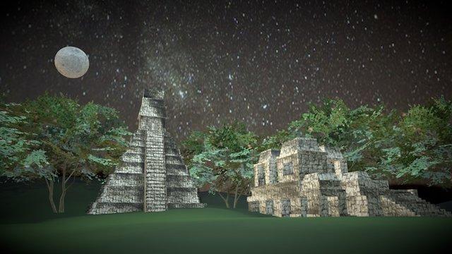 Tikal, Guatemala (Mayan ruins) 3D Model