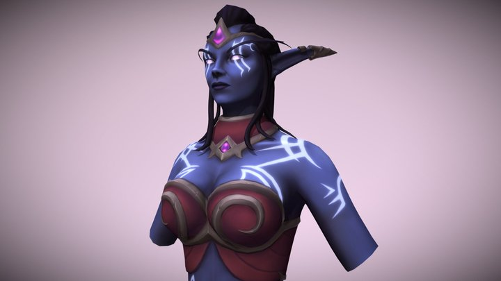 Amaranthe - Nightborne World of Warcraft Fan Art 3D Model