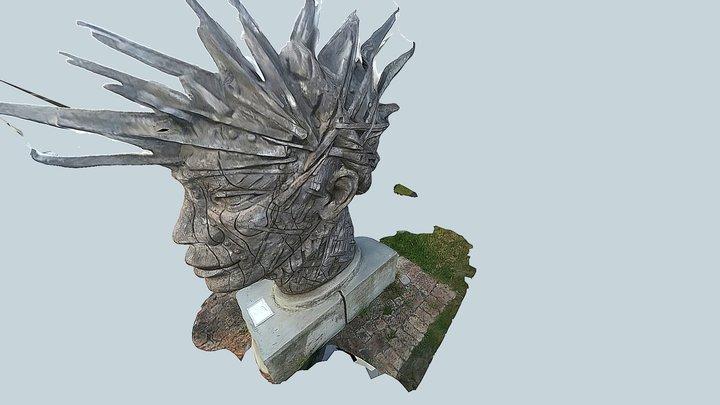 SKULL IN A FRIKA 3D Model