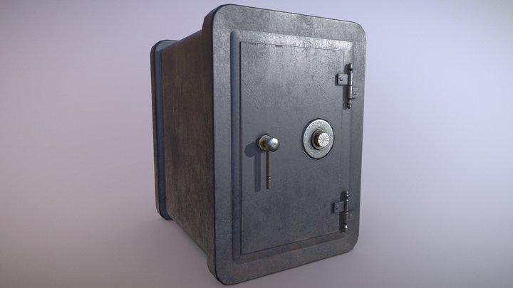 Old iron safe 3D Model