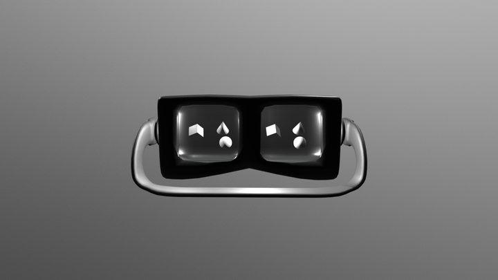 VR Headset Sculpture 3D Model