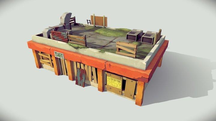 Abadoned market 3D Model