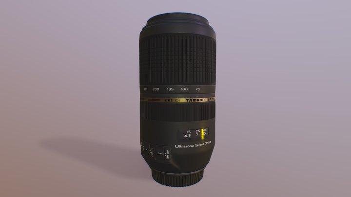 Tamron SP 70-300mm f/4-5.6 Di Vc EOS Zoom Lens 3D Model