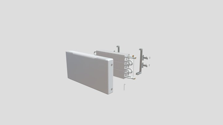 """Настенный конвектор """"Изотерм"""" РКН 3D Model"""