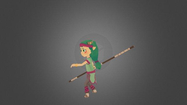 Naki Attack animation 3D Model