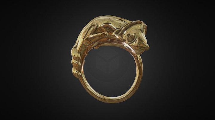 Chameleon ring (model based on 3d scan) 3D Model