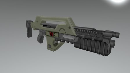 M41A1 Pulse Rifle 3D Model
