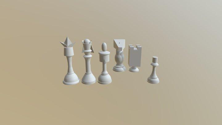 Code geass chess pieces 3D Model