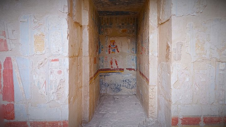 Niche in the Hatshepsut Temple, Luxor 3D Model