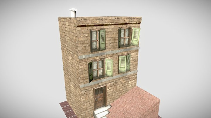 CityScene Woodsbury: House 3D Model