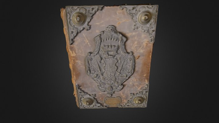 Manoscritto Stemmario famiglie nobili pistoiesi 3D Model