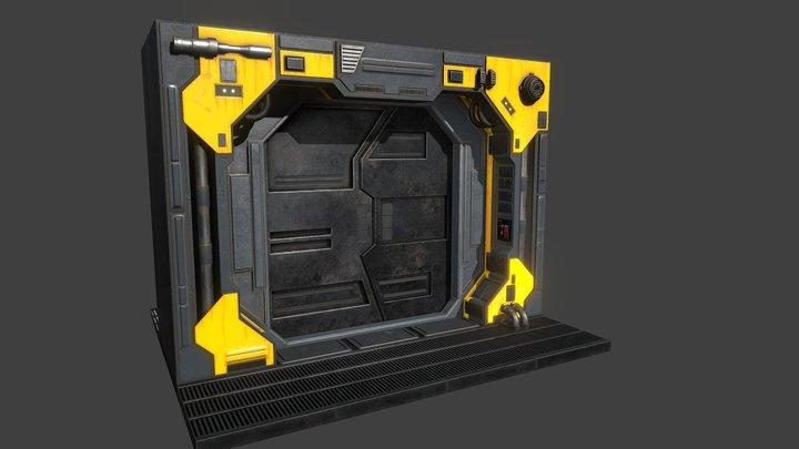 SciFi Doorway 3D Model
