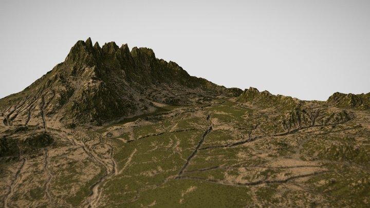 Mossy/Grassy Landscape 3D Model