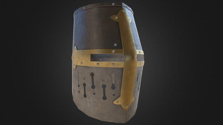 Crusader Great Helm 3D Model