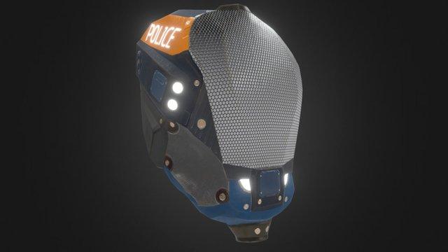 Sci fi Police Helmet 3D Model