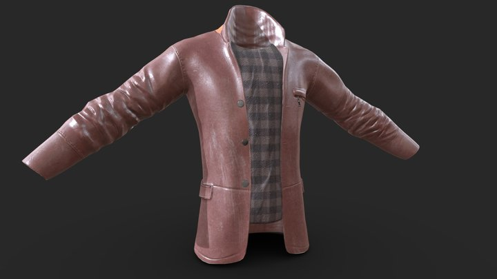 Leather Jacket by Patrick Murray 3D Model